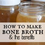 4 jars of fresh made bone broth