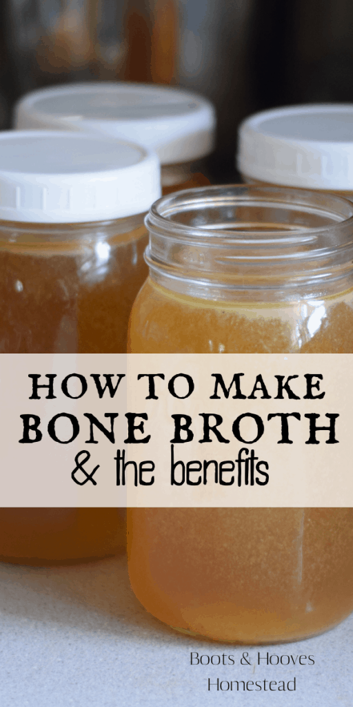 4 jars of fresh made bone broth