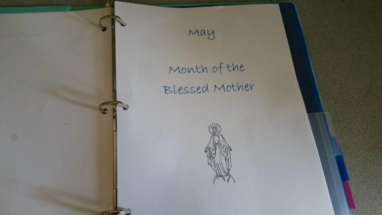 Liturgical Binder monthly pages