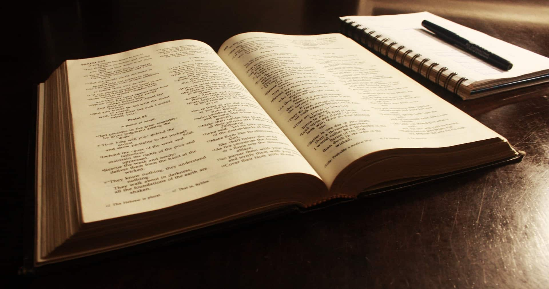 bible and journal with pen