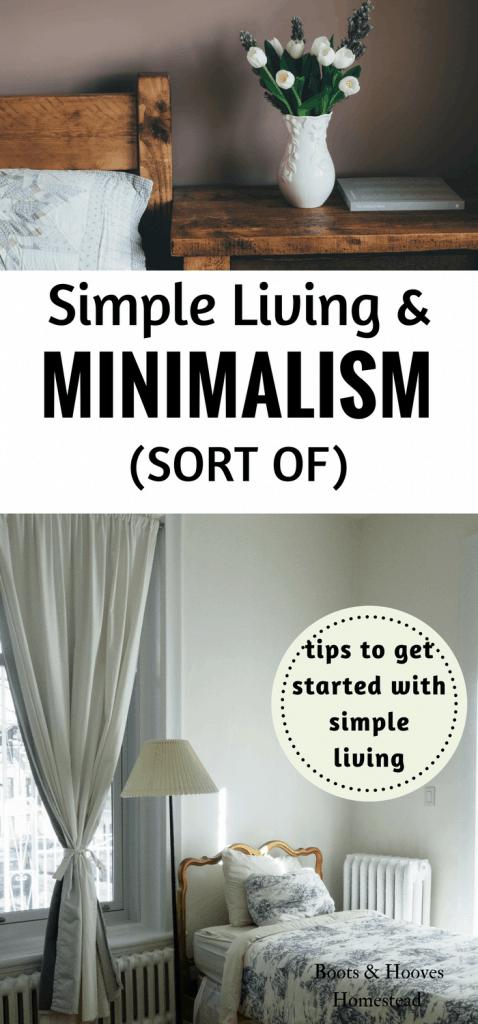 simple living & minimalism (sort of)