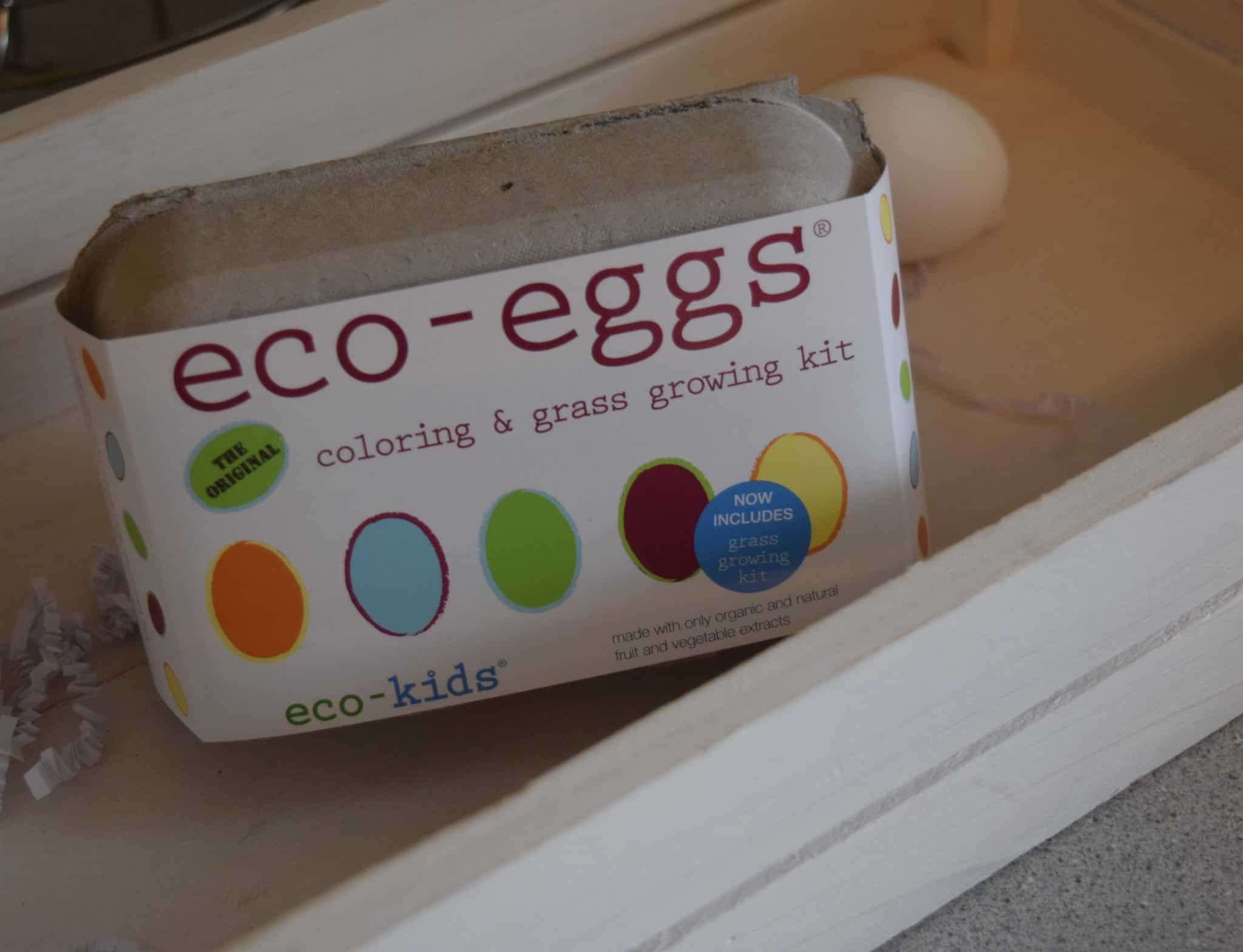 eco eggs decorating diet for Easter eggs