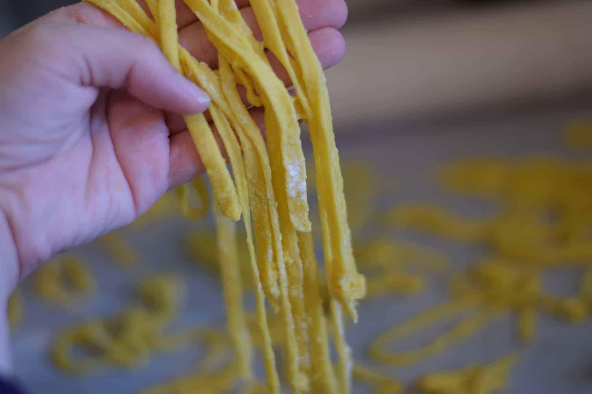 fresh cut pasta noodles