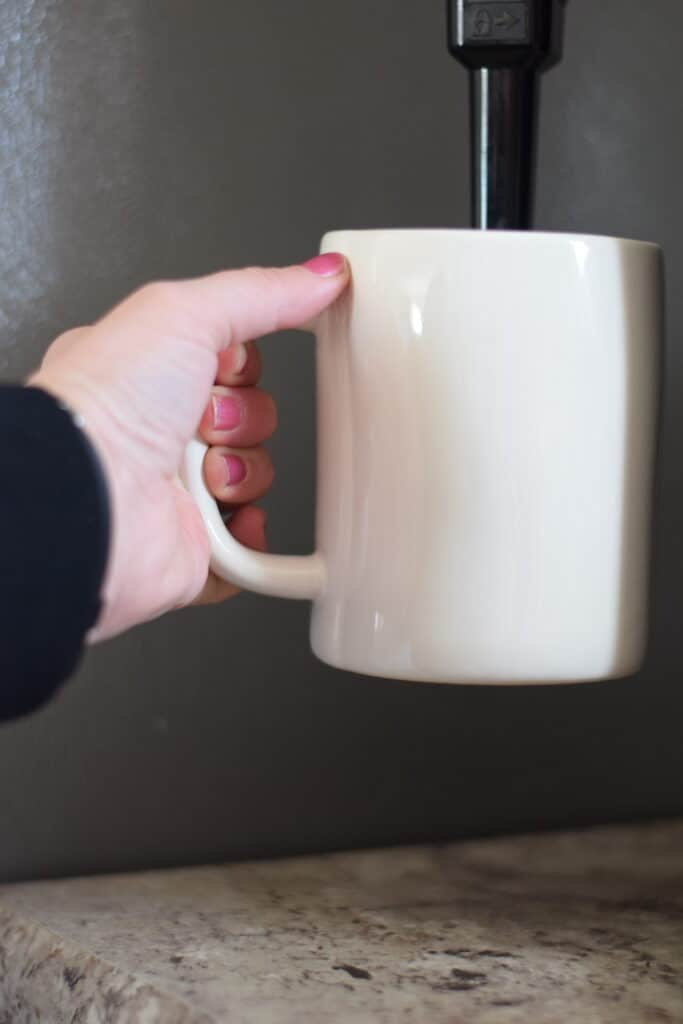 frothing the milk in the ninja coffee maker