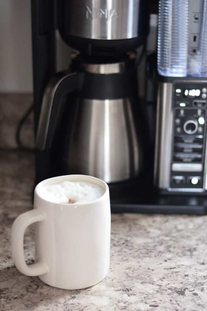 homemade coffee on kitchen countertop