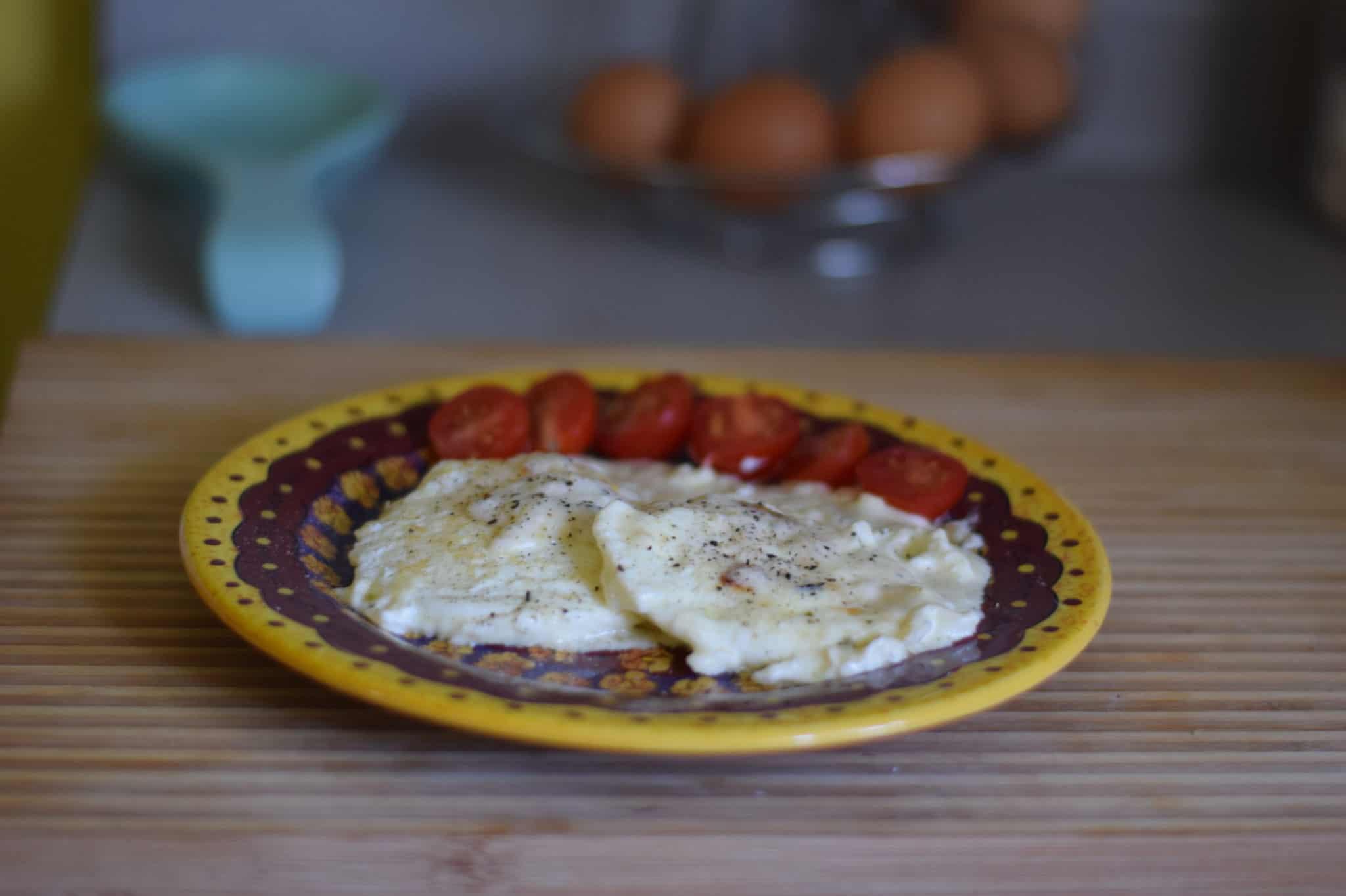 Farm Fresh Eggs in Cream Sauce