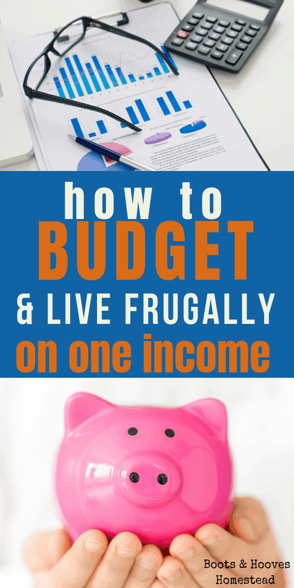 photo collage with two images: one is a pink piggy bank and the other is a graph with a budget and calculator