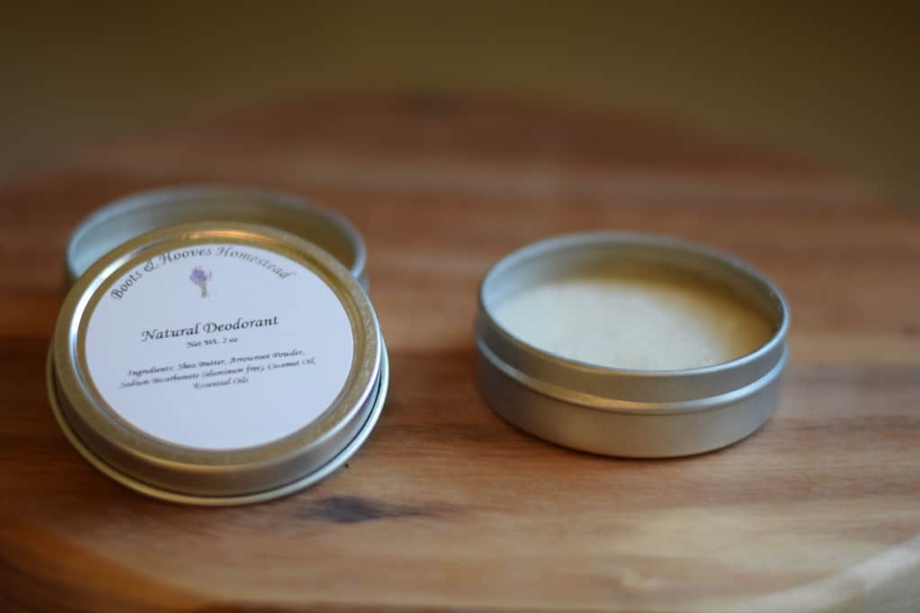 homemade deodorant tins