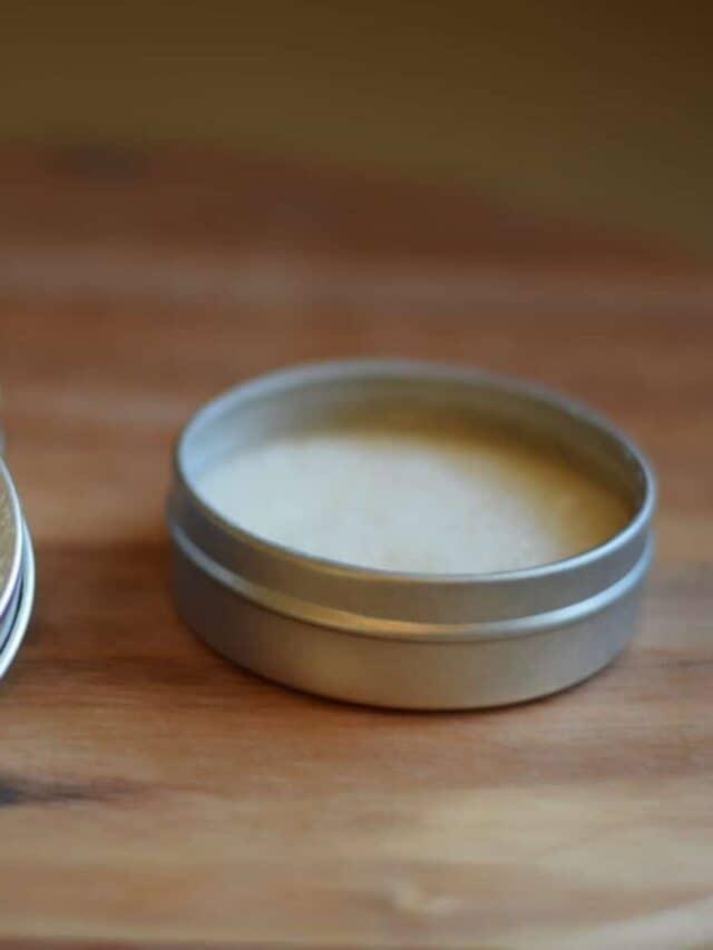 tins of homemade deodorant