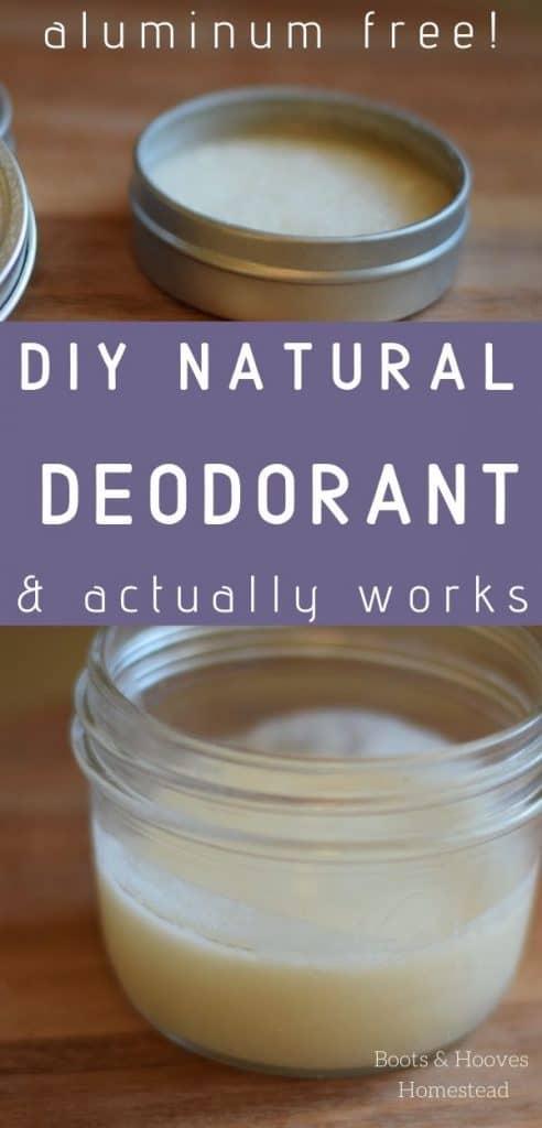 homemade deodorant in a tin and small mason jar