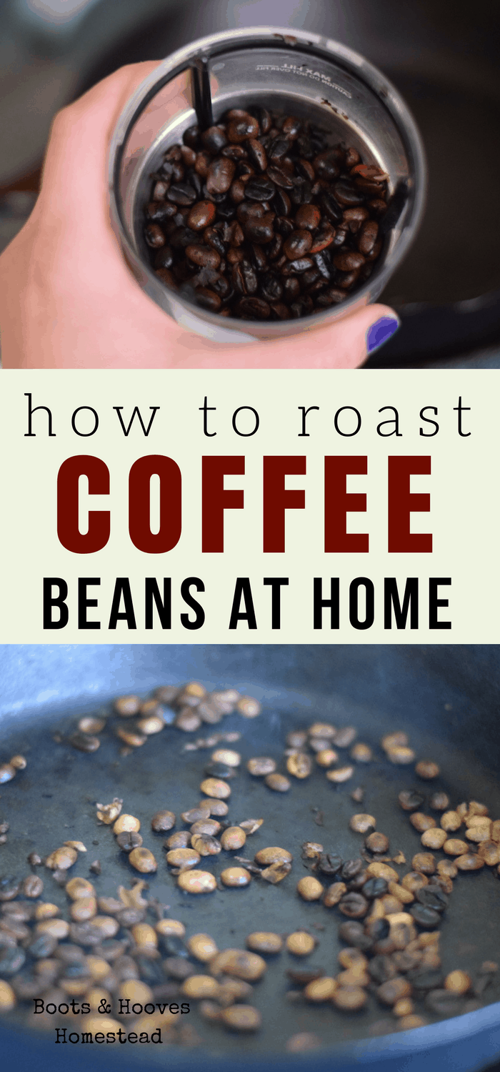 How to roast coffee beans at home.