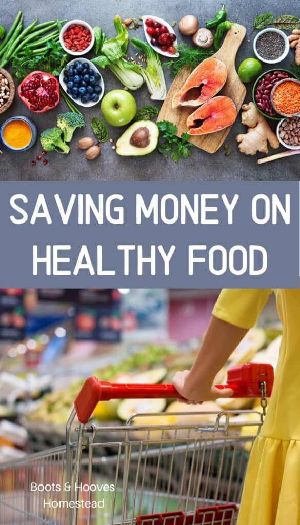 saving money on food and eating healthy