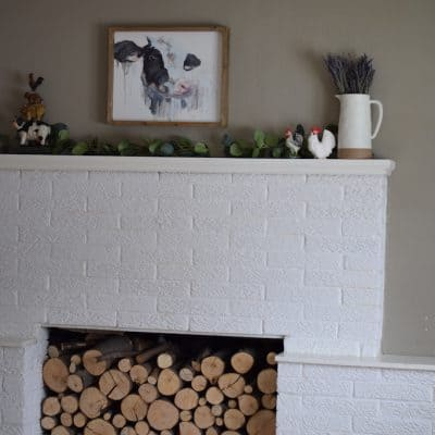 Decorating a Farmhouse Mantel