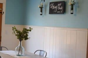 wall art and the farmhouse dining room table