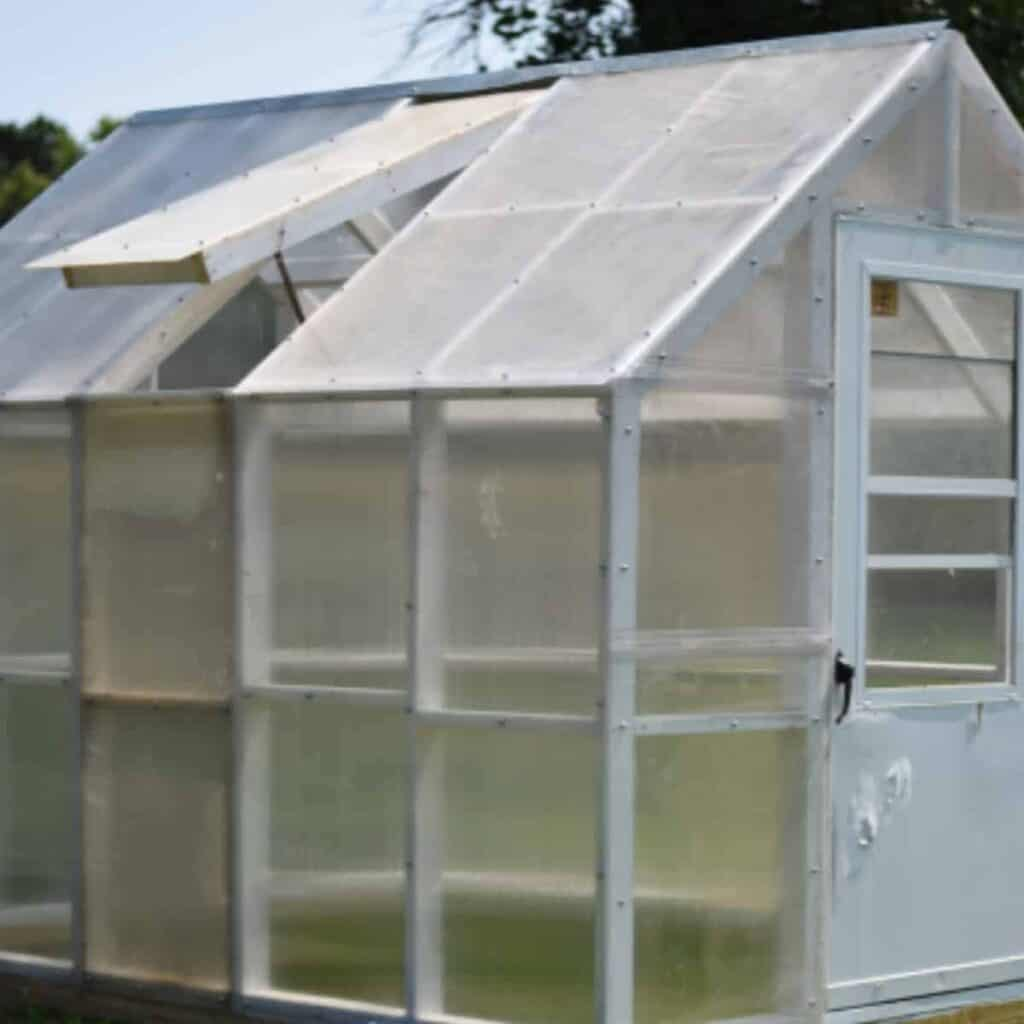 diy greenhouse in the garden