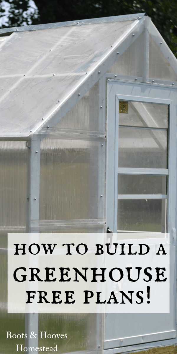 Do It Yourself Home Design: How To Build A Greenhouse (free Plans!)