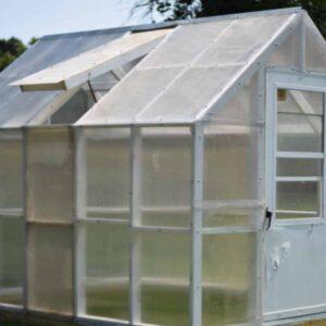 diy greenhouse in the garden