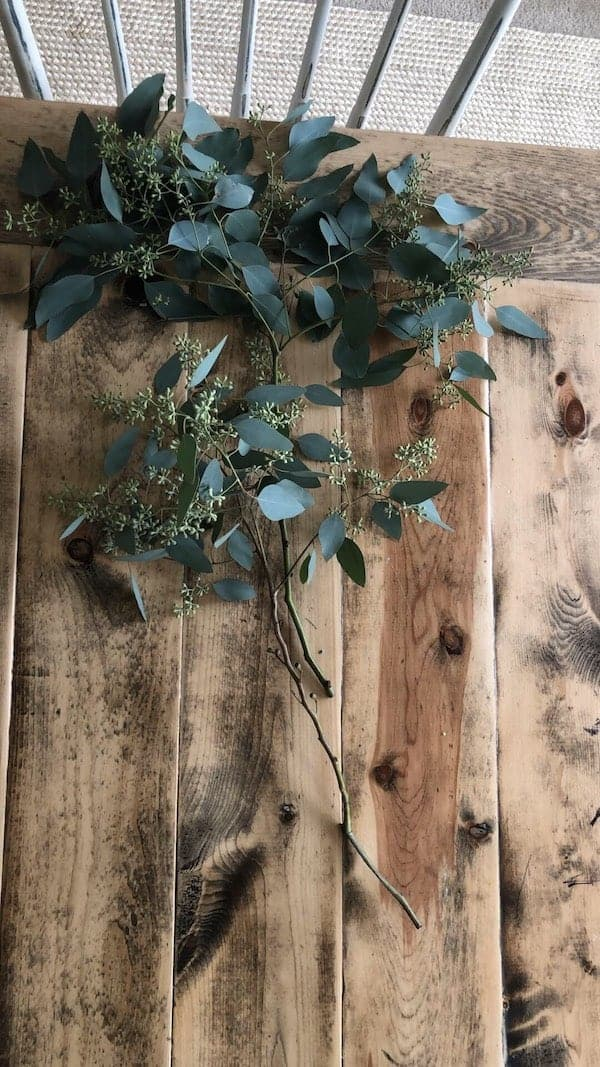 filling in holes of greenery on the table