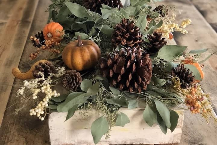 close up image of fall tables cape