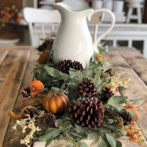 fall tablescape set up