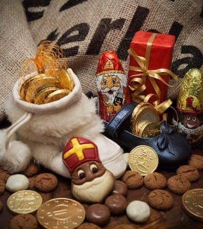 various chocolate candies to celebrate st Nicholas day