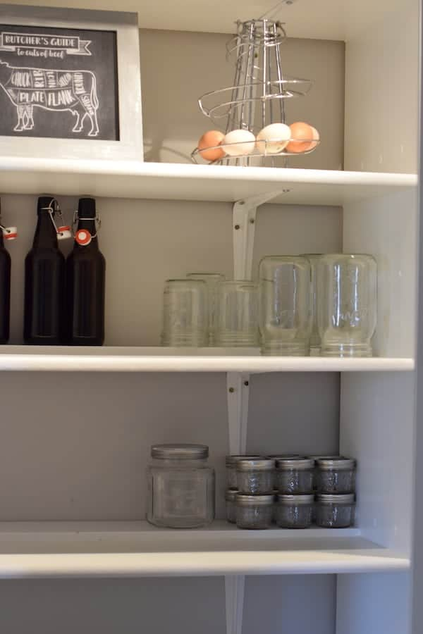 jar storage in kitchen pantry