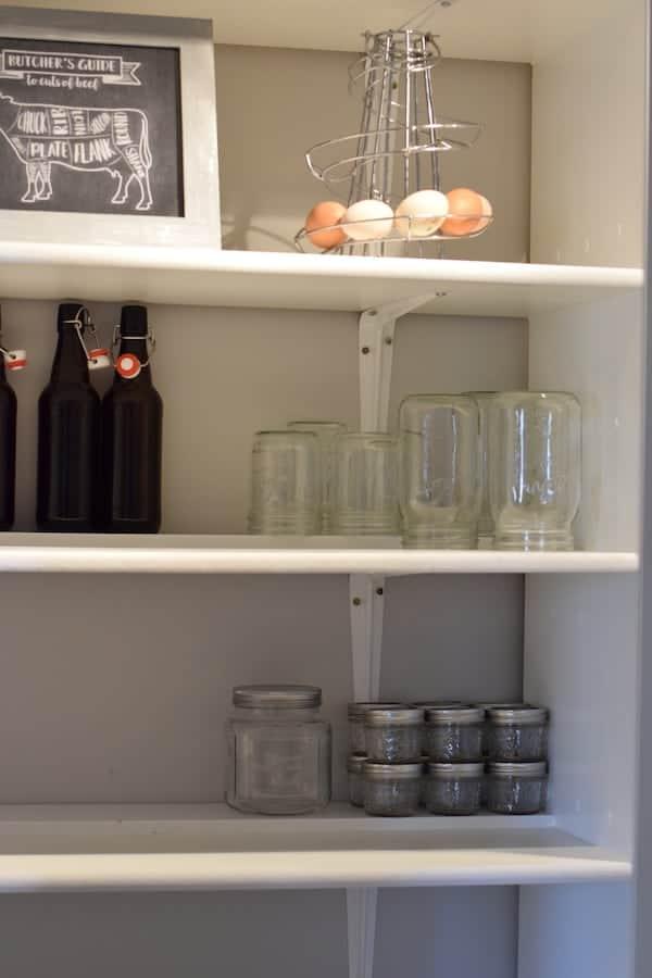 jar storage in kitchen pantry
