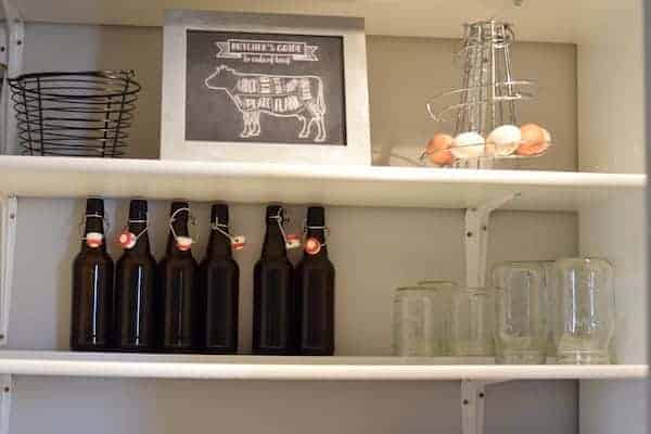 image of Mason jar storage in the pantry
