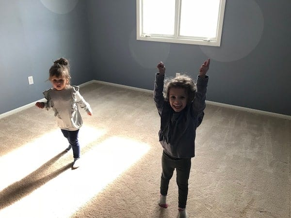 Children in their new bedroom at the ranch home
