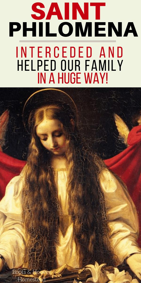 painting of Saint Philomena