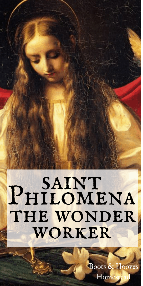 st Philomena painting portrait