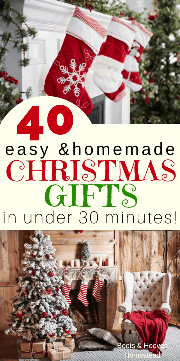 Homemade Christmas Gifts.40 Easy Homemade Christmas Gifts In Under 30 Minutes