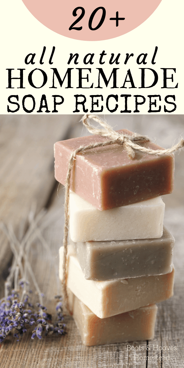 Stack of homemade bar soaps