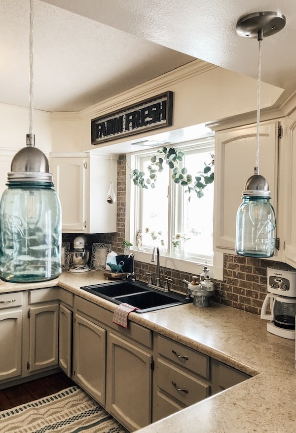 kitchen counter and sink view