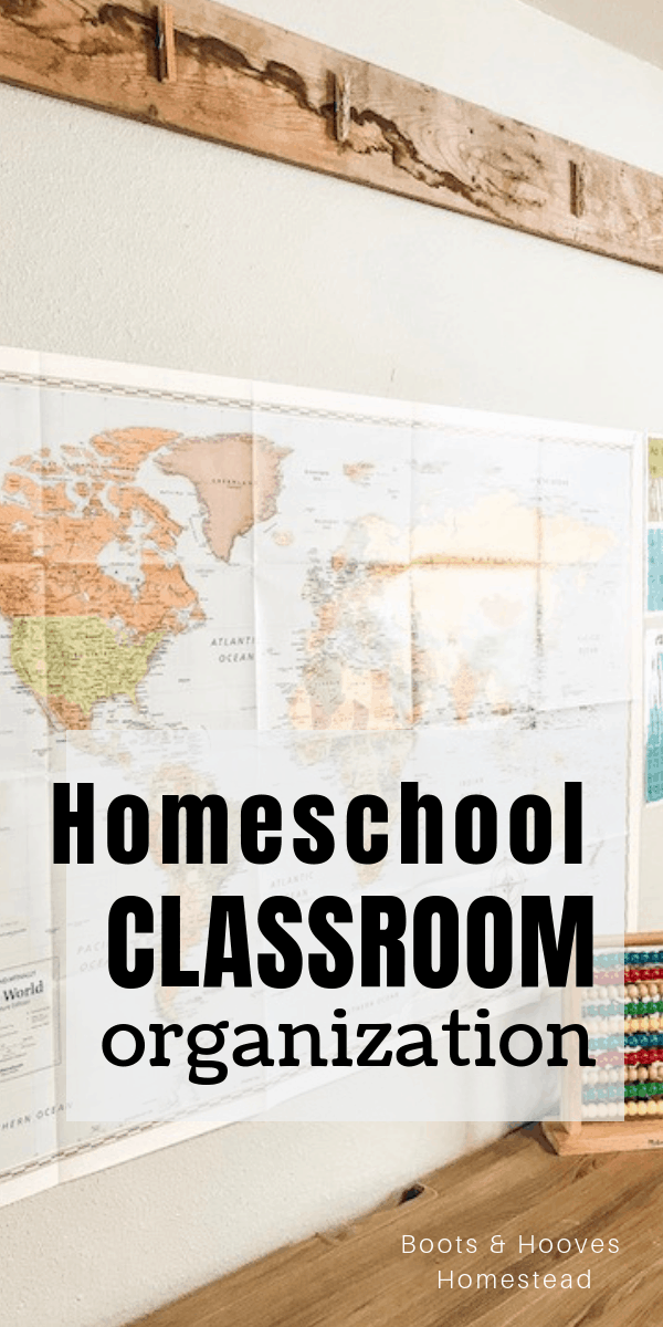 classroom map of the world on a wall
