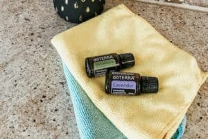 cleaning with essential oils and microfiber cloths
