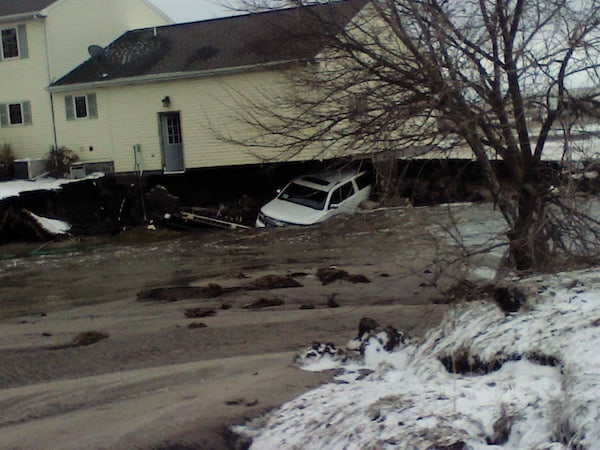 Nebraska flooding destroyed home
