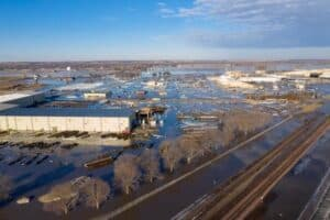 flooding in Nebraska town