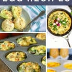 collage of egg recipes
