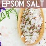 Epsom Salt in a wooden spoon