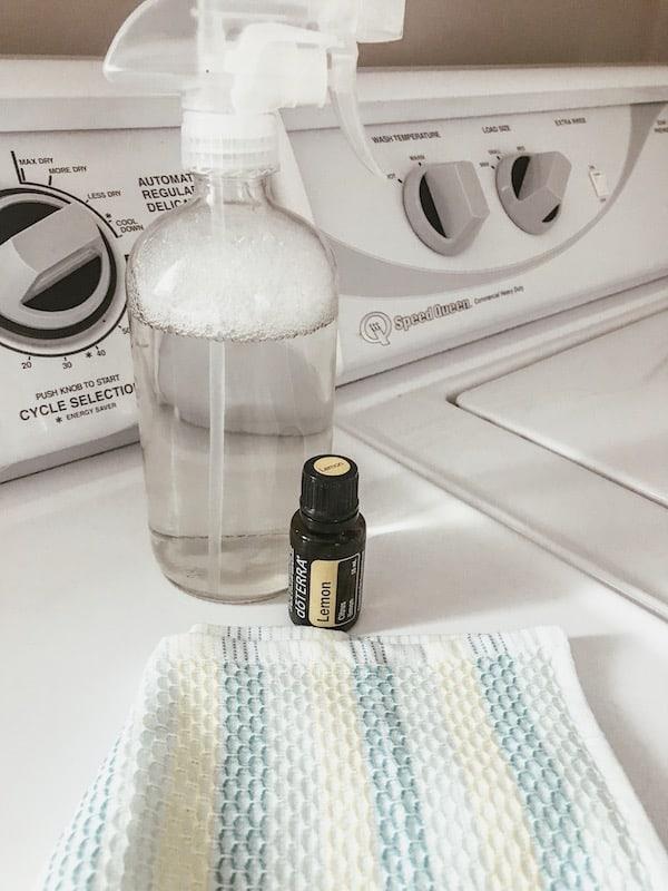 lemon essential oil on clothes dryer