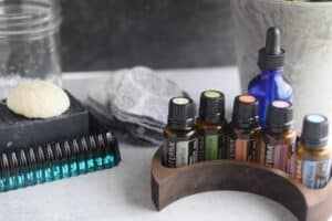 essential oils and charcoal bar soap