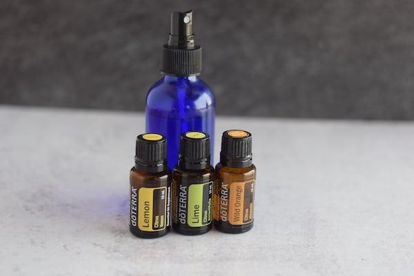 lemon, lime, wild orange essential oils