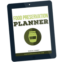 Food Preservation Planner by The Free Range Life