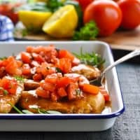 Dump-and-Bake Bruschetta Chicken
