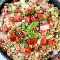 Greek Farro Salad {Easy Summer Side DIsh}