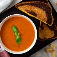 Homemade Garden Fresh Tomato Soup Recipe for Two