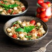 Balsamic Caprese Quinoa Salad Recipe