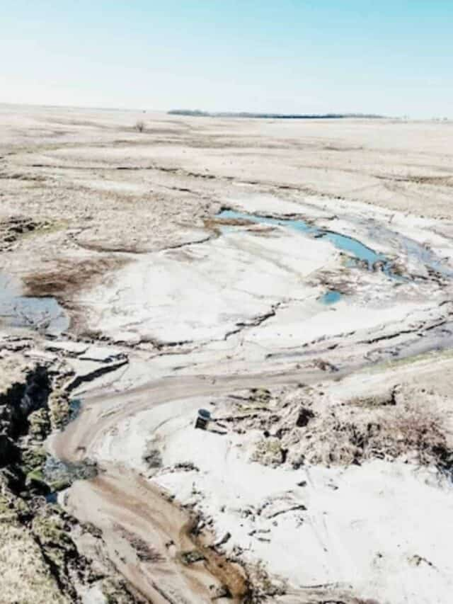 view of dam flooding with a drone