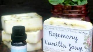 Easy DIY Rosemary Vanilla Essential Soap